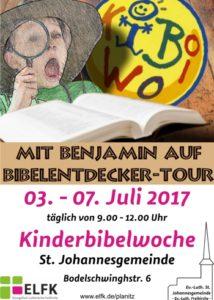 Ev.-Luth. St. Johannesgemeinde - KiBiWo 2017-Plakat