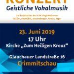 Plakat Konzert Geistliches Vokalmusik 2019