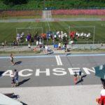 Spendenturnier, Aufnahme eines Fußballfeldes