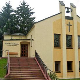 Emmausgemeinde Schönfeld, Kirche von außen
